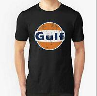Gulf Racing Retro Unisex T shirt Uniex T shirt Full size