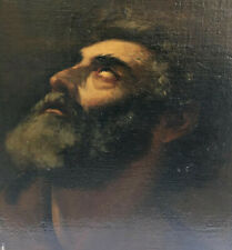 OLD MASTER Oil Painting ~ VISION OF SAINT JEROME ~ Antique Panel 17 C. ITALIAN?