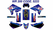5233 YAMAHA WR 200 Autocollants Déco Graphics Stickers Decals Kit