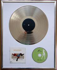 "Sonique hear my cry gerahmte CD Cover +12"" Vinyl goldene/platin Schallplatte"