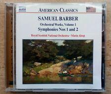 Naxos [2000]~Barber: Symphonies Nos 1 & 2/Essay/Ovt~Marin Alsop/Royal Scot.N.O