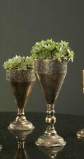 Pokal Vase Amphore Metall Goldbraun Ornament Shabby Vintage Garten Deko 26cm