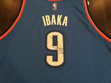 SIGNED SERGE IBAKA SWINGMAN REVOLUTION THUNDER JERSEY! MAGIC NBA AUTO COA!