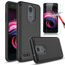 For LG Optimus Zone 4 Rebel 4 Shockproof Armor Phone Case Cover/Screen Protector