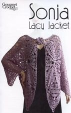 Sonja Lacy Jacket Gourmet Crochet Pattern NEW - 30 Days To Shop & Pay! SZ XS-XL