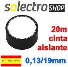 Cinta Aislante PVC Negra 20 metros x 19mm x 0,13mm ignifuga H0030