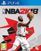 NBA 2K18 2018 FISICO CD EN CASTELLANO ESPAÑOL NUEVO PRECINTADO PS4