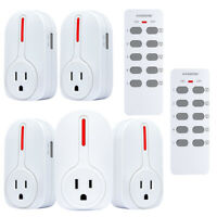 Remote Control Outlet, Wireless Smart Home Outlet Multi-Purpose Combo Set
