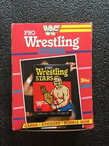1985 Topps WWF Pro Wrestling Stars Wax Pack (x1) Fresh from Box Hulk Hogan $$$