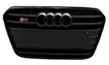 RARE Genuine Audi S6 4G Black Line Grill Front bumper grille mesh S-Line Hood A6
