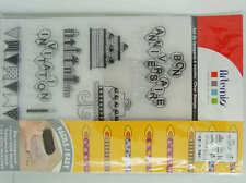 14 Clear Stamp Tampon Anniversaire Invitation 18cm Artemio Scrapbooking Carterie