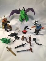 Dragon Horse Knight Weapons Armor Lot Of Mythical Fantasy Play Figures
