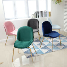 Nordic 4 Gold Legs Colorful Velvet Cushion Beetles Dinning Chairs Linear Seats
