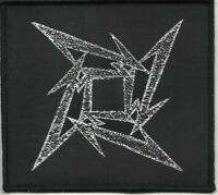 METALLICA ninja star 2011 - WOVEN SEW ON PATCH official - no longer made