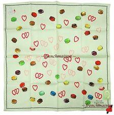 LADUREE French Paris HEARTS Arrow Macaron Multicolor Mini Scarf New U.S. SELLER