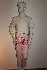 """Triumph Schlafanzug """"Summer Elegance PK 06"""" Gr.38 weiß mit rosa Blütenmuster"""