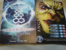 TORCHWOOD TRADING CARDS == RARE CARDS £1