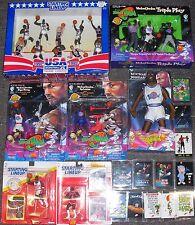 Michael Jordan LOT SLU Space Jam MINT CARDS FIGURINES DREAM TEAM USA BASKETBALL