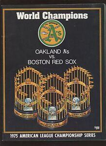 1975 MLB ALCS  Baseball Program Oakland A's at Boston Red Sox NRMT