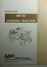 Massey Ferguson MF 10 Garden Tractor Master Parts Manual 188pg. Repair Riding