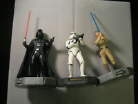 Star Wars Epic Force Dath Vader Luke Skywalker, Stormtrooper - Lot of 3