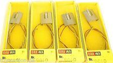 4 Pezzi Pera con Versione Diagramma di pista Cabina di blocco Accessori BRAWA