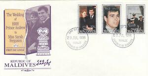 (86487) Maldives FDC Prince Andrew Fergie Wedding 1986