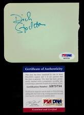 Dick Stockton Signed Album Page autographed cut signature basketball PSA HOF