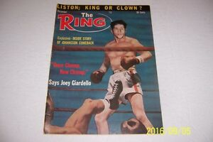1963 THE Ring WORLD MIDDLEWEIGHT Champion Joey GIARDELLO Once CHUMP Now CHAMP
