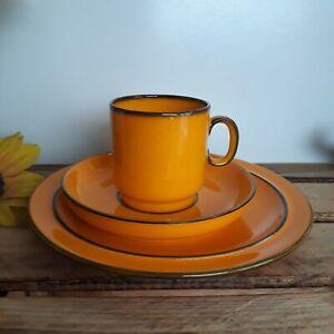 (B7) Thomas Porzellan Scandic gelb - orange Kaffeegedeck 70er Design Bengson