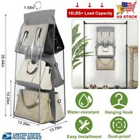 6 Large Pockets Hanging Handbag Dust-Proof Storage Bag Wardrobe Closet Organizer