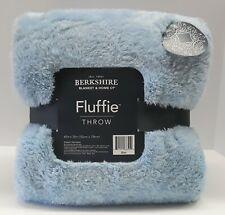 Berkshire Blanket Fluffie Throw 60x70 Blanket:LIGHT BLUE
