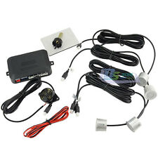 Car Parking Sensor Reversing Backup Radar System Sound Alert + 4 Sensors Silver