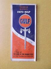 MAP GULF GAS SERVICE ADVERTISING ONTARIO QUEBEC GASOLINE MOTOR OIL VINTAGE