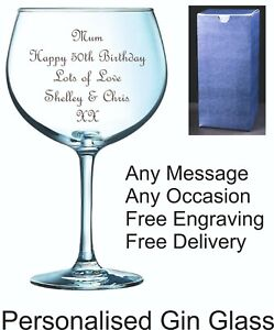 Personalised 20oz Gin Glass, Birthday Gift, 18th 21st 30th 40th 50th 60th 70th