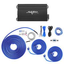SKAR AUDIO SK-M4004D COMPACT 400W CLASS D 4 CH AMP W/ 8 GAUGE OFC AMP WIRING KIT