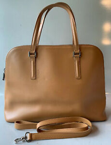 Furla Genuine Faux Leather Beige Brown handbag bag