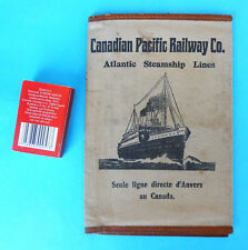 CANADIAN PACIFIC RAILWAY & Atlantic Steamship Lines antique ticket wallet Canada