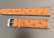 Genuine Frederique Constant Hand Made Ostrich Leather Strap Buckle 18mm Cut Lug