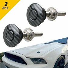 Pair Car Bumper Latch Push Button Quick Release Hood Bonnet Pins Lock Clip Kit