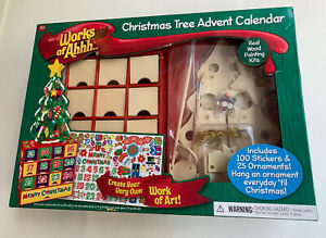Master Pieces Works Of Ahhh Christmas Tree Advent Calendar Craft Project
