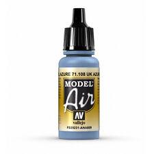 Vallejo Model Air: UK Azure - Acrylic Paint Bottle 17ml VAL71.108
