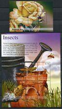 Dominica 2002 Insekten Insects Bienen Bees Ameisen 3334-3339 Block 461 MNH