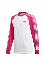 Adidas Originals Longsleeve Herren 3-STRIPES LS T DH5799 Weiß Rosa