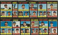 2020 Topps Heritage LEAGUE LEADERS Base Subset 12-Card Set Card #s 61-72