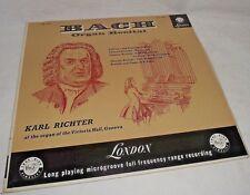 Bach Organ Rectal Karl Richter LP Vinyl Record Victoria Hall Geneva London 33 RP