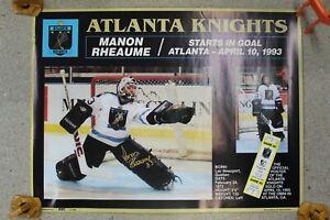 Fantastic Manon Rheaume Signed Atlanta Knights Poster 1993  #225/5000