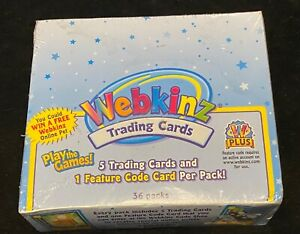 NEW WEBKINZ Box Of Unopened Trading Cards Series 1 Sealed box 36 PACKS codes