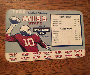 1960 Mississippi State Bulldogs football pocket schedule