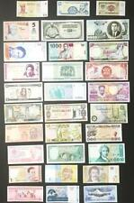 Uncirculated Lot of 30 Different Foreign PAPER MONEY BANKNOTES WORLD CURRENCY